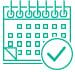 Hubspot calendar icon green