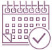 Hubspot calendar icon purple