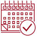 Hubspot calendar icon red