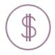 Hubspot cost icon purple