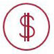 Hubspot cost icon red