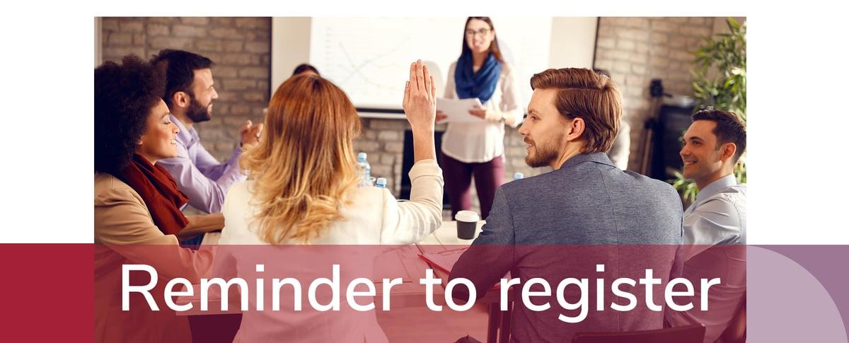 Reminder to register BANNER REGIONAL SEMINAR