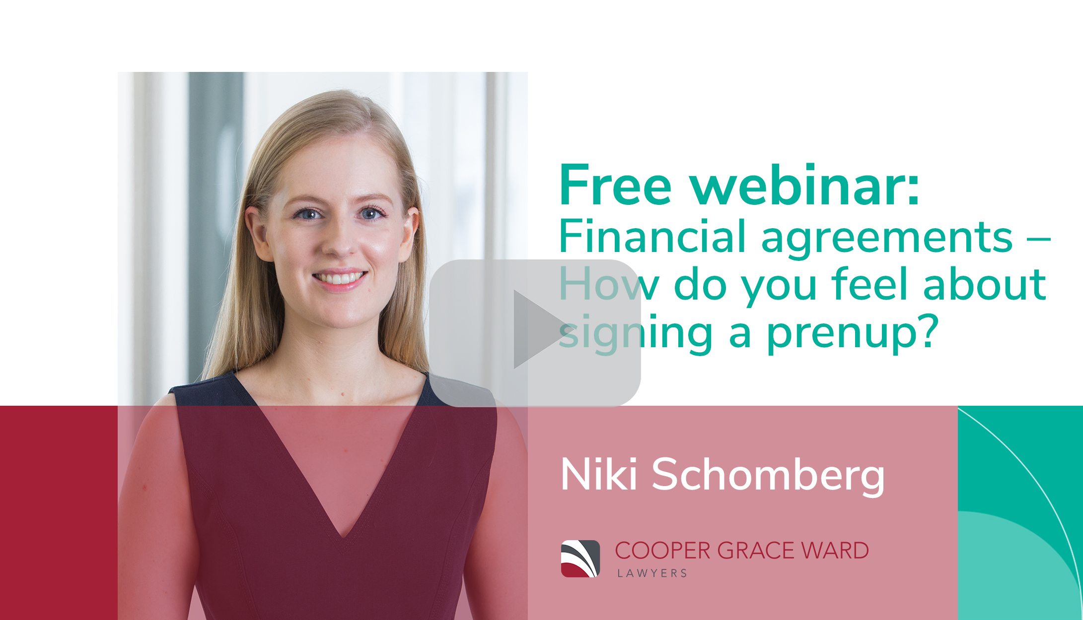 Webinar Financial agreements How do you feel about signing a prenup